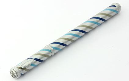 Roller satiné tourbillons bleus Candy de « Inès de la Fressange » - photo 3