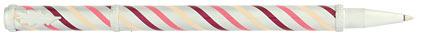 Roller satiné tourbillons bordeaux Candy de « Inès de la Fressange », cliquez pour plus de détails sur ce stylo...