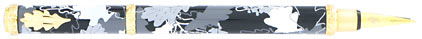 Stylo plume Herbarium noir/gris de « Inès de la Fressange »