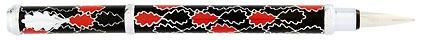 Stylo plume noir rouge Oak Allover de Inès de la Fressange