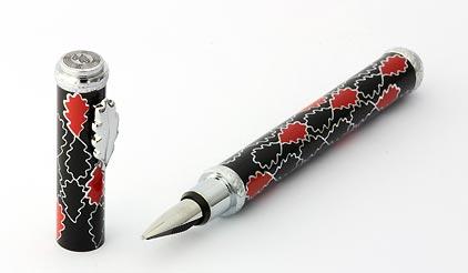Stylo plume noir rouge Oak Allover de Inès de la Fressange - photo 3
