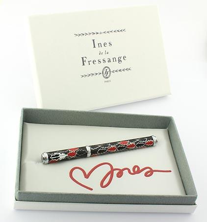 Stylo plume noir rouge Oak Allover de Inès de la Fressange - photo 5