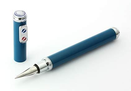 Stylo plume Bleu Sarcelle chromé SN 134012A  Premier de Inès de la Fressange  - photo 3