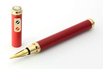 Stylo plume Bordeaux et Rouge doré SN 134009A  Premier de Inès de la Fressange - photo 3