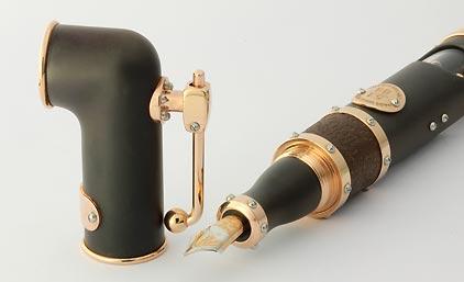 Stylo plume « Hommage au Titanic » laque noire mate attributs en or rose de Jean-Pière Lépine - photo 3