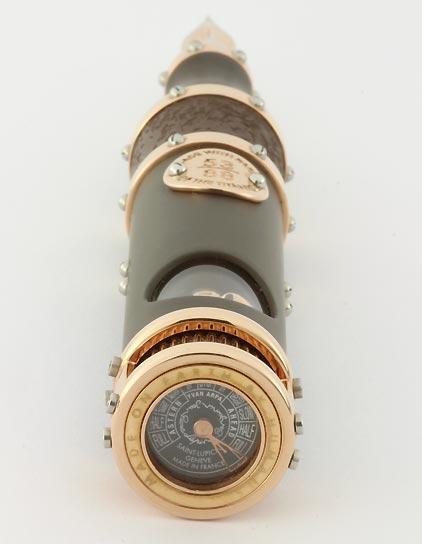 Stylo plume « Hommage au Titanic » laque noire mate attributs en or rose de Jean-Pière Lépine - photo 7