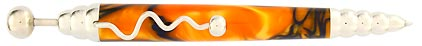 Stylo bille Zigzag jaune filets bleus ZL33 de Jean-Pierre Lepine, cliquez pour plus de détails sur ce stylo...