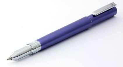 Stylo bille Electra mauve d'Oberthur - photo.