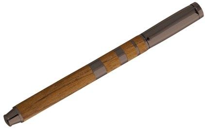 Stylo plume Jazz teck metal gun de Oberthur - photo.