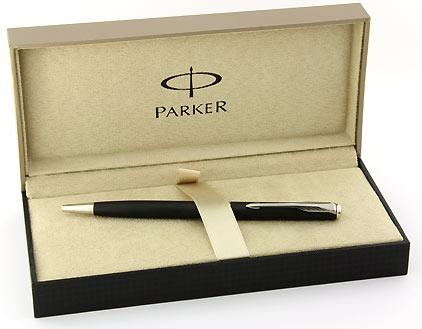 Stylo bille slim Sonnet noir mat attributs palladiés de Parker - photo 4