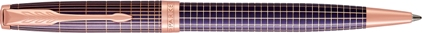 Stylo bille Sonnet ciselé argent massif violet, cliquez pour plus de détails sur ce stylo...