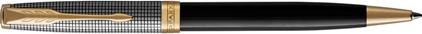Stylo bille Sonnet Laque noire et Ciselé argent massif, cliquez pour plus de détails sur ce stylo...