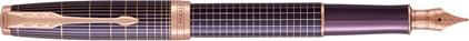 Stylo plume Sonnet ciselé argent massif violet, cliquez pour plus de d�tails sur ce stylo...
