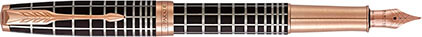 Stylo plume Sonnet laque marron soft, cliquez pour plus de détails sur ce stylo...