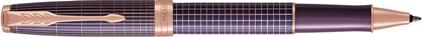 Roller Sonnet ciselé argent massif violet, cliquez pour plus de détails sur ce stylo...