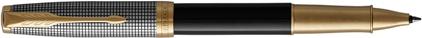 Roller Sonnet Laque noire Ciselé argent massif, cliquez pour plus de d�tails sur ce stylo...