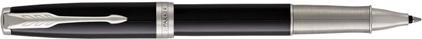 Stylo roller Sonnet laqué noir palladié CT nouvelle version, cliquez pour plus de d�tails sur ce stylo...