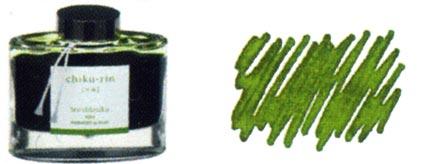 Encre Chiku-rin (Bosquet de bambous) Iroshizuku de Pilot, cliquez pour plus de d�tails sur ce stylo...