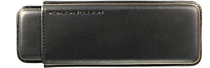 Etui-fourreau P'3190 en cuir noir pour 2 stylos Porsche Design, cliquez pour plus de d�tails sur ce stylo...