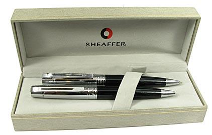 Parure Gift 300 noire et chrome bille/portemine de Sheaffer - photo 4