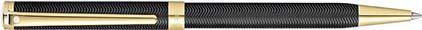 Stylo bille Intensity noir mat et chevrons plaqué or de Sheaffer, cliquez pour plus de d�tails sur ce stylo...