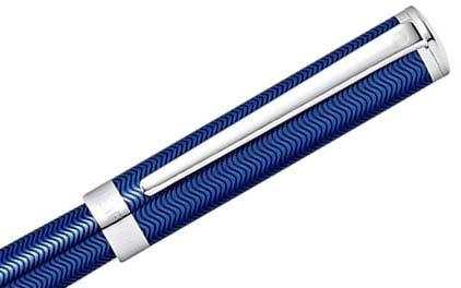 Roller Intensity laque bleue et chevrons de Sheaffer - photo 2