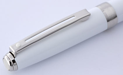 Stylo bille Prelude Mini Gloss White attributs nickelés de Sheaffer - photo 4