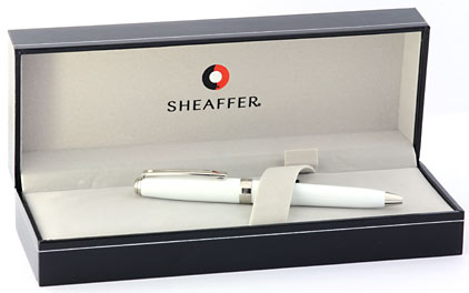 Stylo bille Prelude Mini Gloss White attributs nickelés de Sheaffer - photo 5