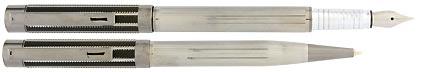 Parure plume / stylo City noir gun Aspen de Vuarnet, cliquez pour plus de détails sur ce stylo...