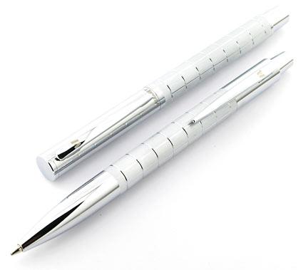 Parure stylo plume/stylo bille Swing chromé de Vuarnet - photo 2
