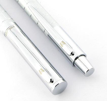 Parure stylo plume/stylo bille Swing chromé de Vuarnet - photo 3
