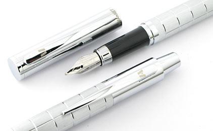Parure stylo plume/stylo bille Swing chromé de Vuarnet - photo 4