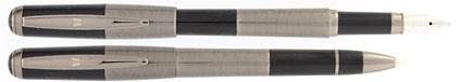 Parure stylo plume/stylo bille noir gun Skipper de Vuarnet, cliquez pour plus de d�tails sur ce stylo...