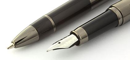 Parure stylo plume/stylo bille noir gun Skipper de Vuarnet - photo 2