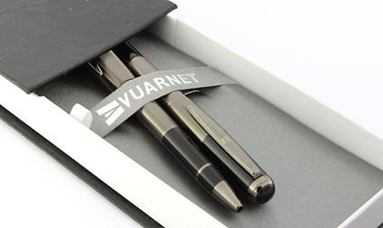 Parure stylo plume/stylo bille noir gun Skipper de Vuarnet - photo 6