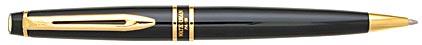 Stylo bille Expert Noir de Mars attributs dorés de Waterman, cliquez pour plus de détails sur ce stylo...