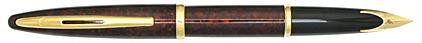 Stylo plume Carène Ambre Marine attributs plaqués or de Waterman, cliquez pour plus de détails sur ce stylo...