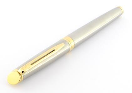 Stylo plume Hémisphère acier attributs dorés de Waterman - photo 3