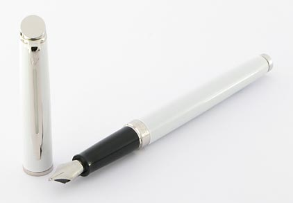 Stylo plume Hémisphère laqué blanc attributs palladiés de Waterman - photo 2