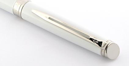 Roller Hémisphère laqué blanc attributs palladiés de Waterman - photo 4