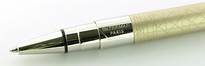Stylo bille Perspective Champagne attributs palladiés de Waterman - photo 3