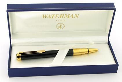Stylo bille Perspective laqué noir attributs dorés de Waterman - photo 4